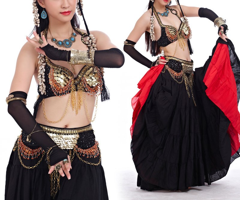 Tribal belly dance costume