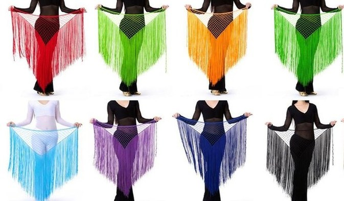 belly dance hip scarfs